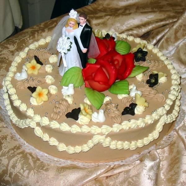 Hochzeitstorte - Zwei Herzen